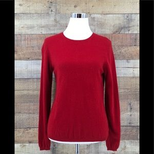 Charter Club 2 Ply Cashmere Sweater Size M RED